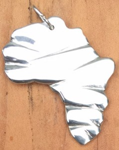 Africa shape in a pendant