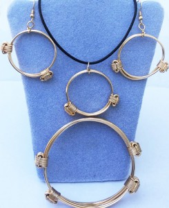 Collection of love knot jewelry