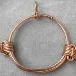 Elephant hair knot pendant
