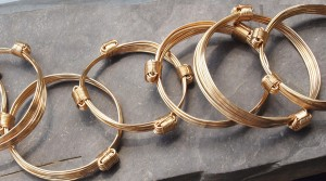 All gold elephant hair knot bracelets