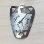 Rock Art open chevron pendant with cutout figures