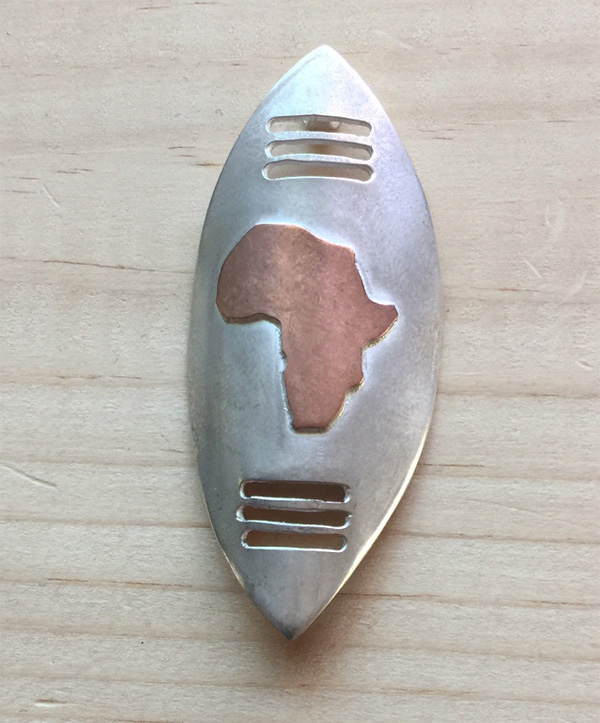 African Zulu shield pendant