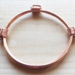 Bright shiny and narrow copper bracelet