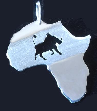 Warthog on Africa pendant
