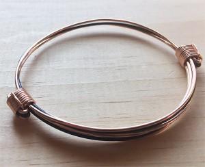 Pink and black gold hair bracelet