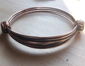 Rose gold and Black hair knot bracelet
