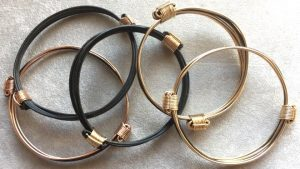 black and gold elephant hair bracelets