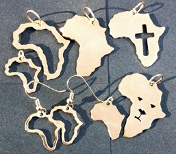 Arica shaped earrings and pendants