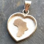 Africa in your heart pendant