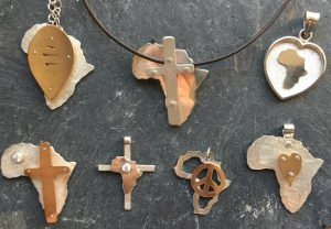 Africa hearts and crosses