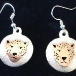 Cheetah face earrings