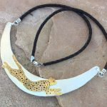 cheetah choker necklace