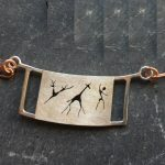 Framed Rock Art necklace