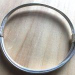 Sterling silver elephant hair knot bracelet