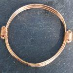 petite gold africa elephant hair knot bracelet