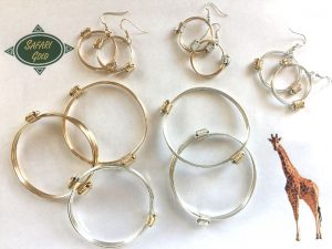 New petite line of elephant hair knot bracelets and matching earrings