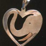 Love for elephants Gold heart