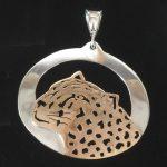 Big gold leopard head pendant