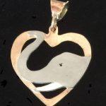 Elephant heart pendant