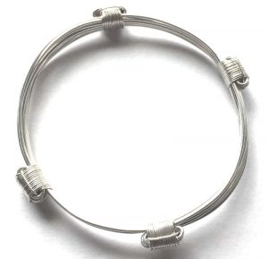 4 knot petite silver african elephat hair bracelet