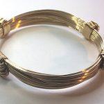 4 knot slender african elephant hair gold bracelet