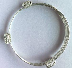 Elephant hair knot bracelet silver