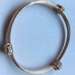 3 knot gold adjustable bracelet