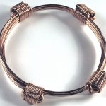 Rose gold elephant 4 knot bracelet