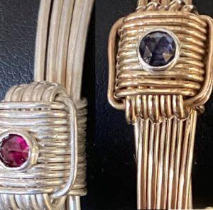 Gemstone elephant hair bracelets