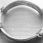 Big jumbo all silver 71/4 strand silver bracelet